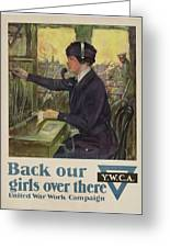 World War I Ywca Poster Greeting Card