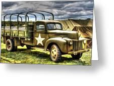 World War II Army Truck Greeting Card