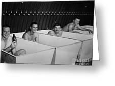 World War II Bath Time For Guys Greeting Card