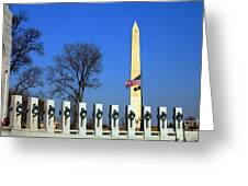 World War II Memorial And Washington Monument Greeting Card