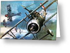 World War One Dogfight Greeting Card