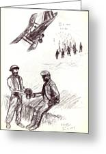 World War One Sketch No. 2 Greeting Card by Andrew Gillette