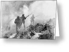 World War Two Battle By John Springfield Greeting Card