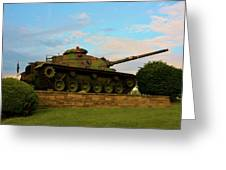World War Two Tank Greeting Card