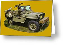 World War Two - Willys - Army Jeep  Greeting Card