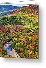 Worlds End State Park Lookout 3 - Paint Greeting Card