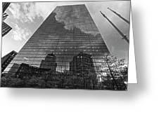 World's Largest Canvas John Hancock Tower Boston Ma Black And White Greeting Card