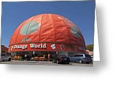 World's Largest Orange Greeting Card