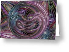Worm Hole Greeting Card