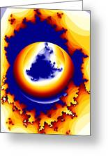 Worm Hole To A New World Greeting Card