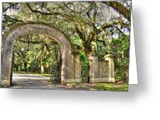 Wormsloe Gate Greeting Card