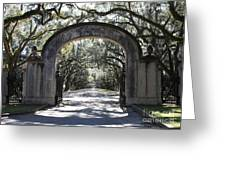 Wormsloe Plantation Gate Greeting Card by Carol Groenen