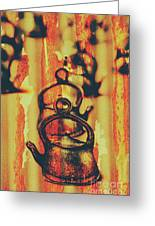 Worn And Weathered Kettles Greeting Card