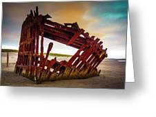 Worn Rusting Shipwreck Greeting Card