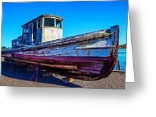 Worn Weathered Boat Greeting Card