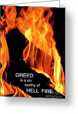 worthy of HELL fire Greeting Card