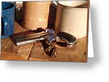 Would You Like A Little Pistol With Your Coffee Greeting Card