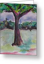 Wounded Tree Greeting Card