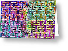 Woven Abstract Greeting Card