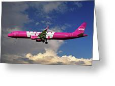 Wow Air Airbus A321-211 Greeting Card