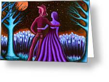 Wrangler's Moon IIi Greeting Card by Brenda Higginson
