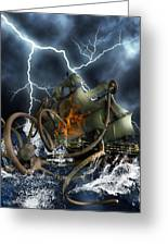Wrath Of Kraken Greeting Card