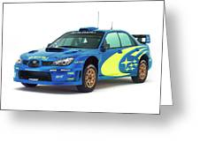 Wrc Racing Greeting Card