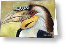 Wreathed Hornbill  Greeting Card
