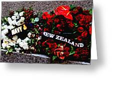 Wreaths From New Zealand And Our Navy Greeting Card