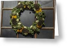 Williamsburg Wreath 21b Greeting Card