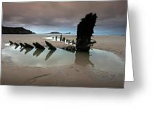 Wreck Of Helvetia Greeting Card