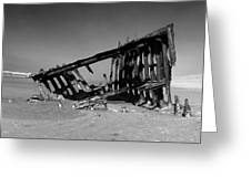 Wreck Of The Peter Iredale Greeting Card