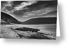 Wreck On The Lake Greeting Card
