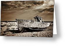 Wrecked Greeting Card by Meirion Matthias