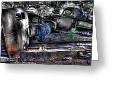 Wrecking Yard Study 12 Greeting Card