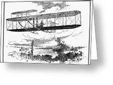 Wright Brothers Plane Greeting Card