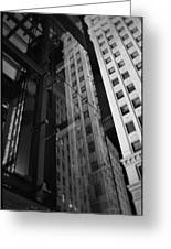 Wrigley Building Reflections Greeting Card