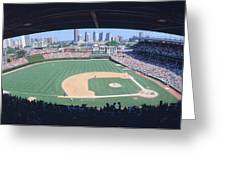 Wrigley Field, Chicago, Cubs V Greeting Card