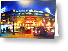 Wrigley Field Home Of Chicago Cubs Greeting Card