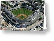 Wrigley Field In Chicago Aerial Photo Greeting Card