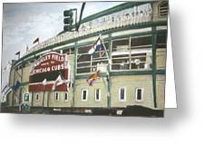 Wrigley Field Greeting Card