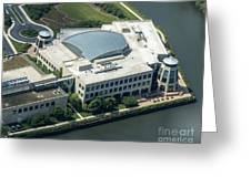 Wrigley Global Innovation Center In Chicago Aerial Photo Greeting Card