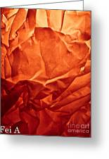Wrinkled Passion Greeting Card