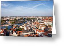 Wroclaw Cityscape In Poland Greeting Card