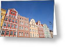 Wroclaw Old Town Houses Greeting Card