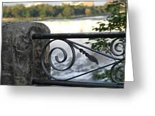 Wrought Iron At Niagara Falls Greeting Card
