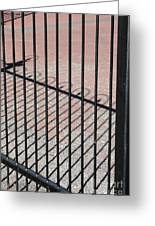 Wrought-iron Gate And Shadows Greeting Card