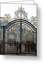 Wrought Iron Gate Greeting Card