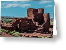Wukoki Pueblo Ruins Wupatki National Monument Greeting Card