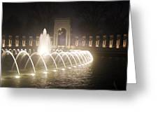 Ww 2 Memorial Fountain Greeting Card